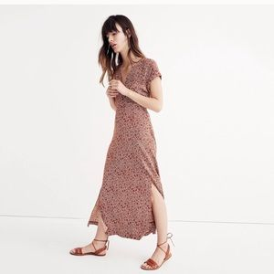 Madewell Deep V Maxi in Woodcut Floral
